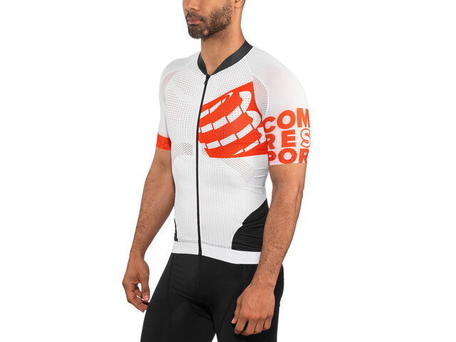 fadf44f4a2c Compressport Cycling On/Off Maillot Jersey Unisex White at Bikester ...